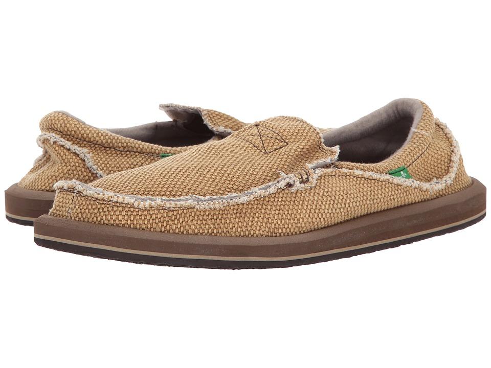 Sanuk - Chiba (Tobacco) Men's Slip on  Shoes