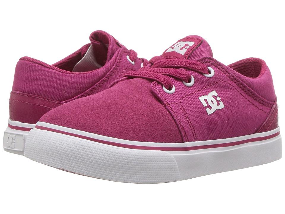 DC Kids - Trase Slip (Toddler) (Raspberry) Girls Shoes