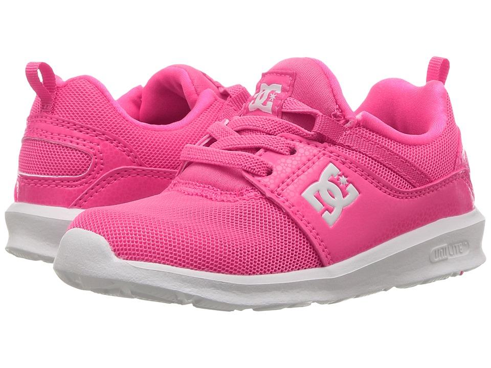 DC Kids Heathrow (Toddler) (Pink) Girls Shoes