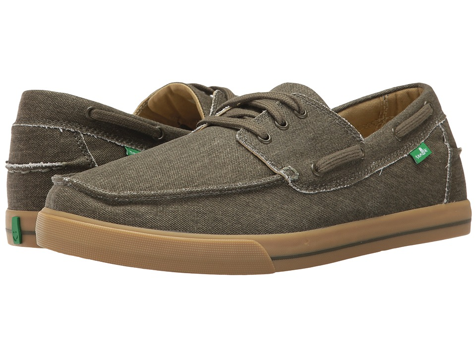 Sanuk The Sea Man (Army Green Washed) Men