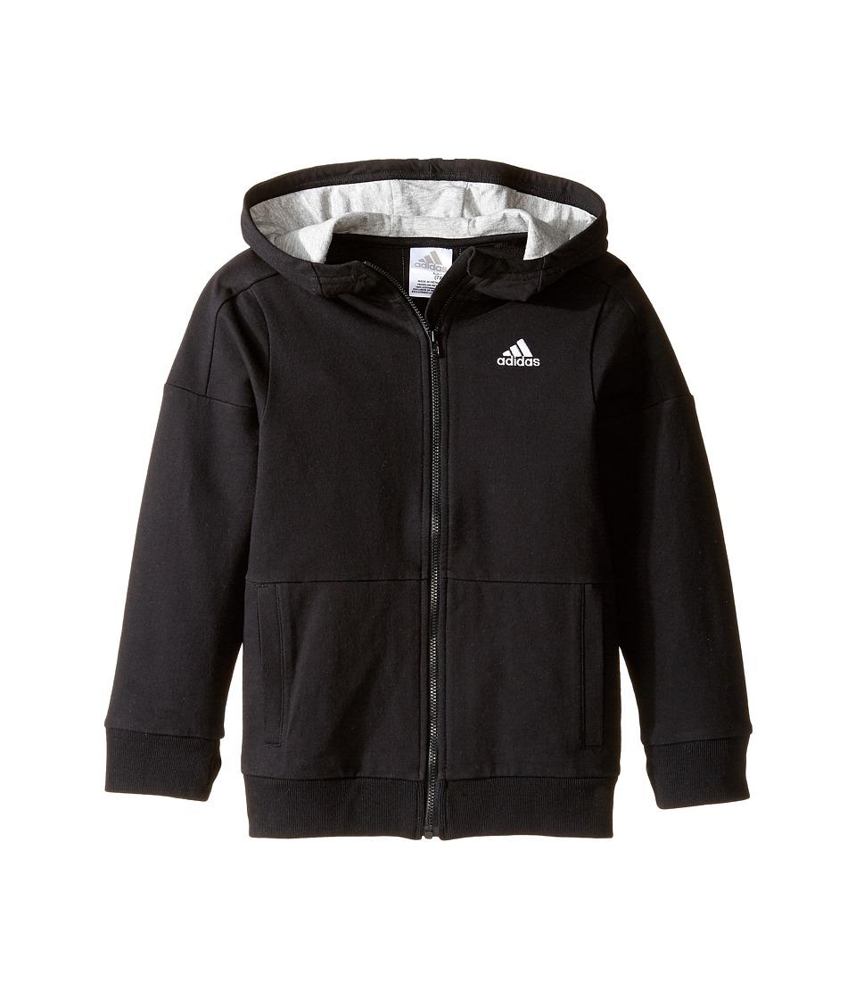 adidas Kids - Athletics Jacket (Toddler/Little Kids) (Caviar Black) Boy's Coat