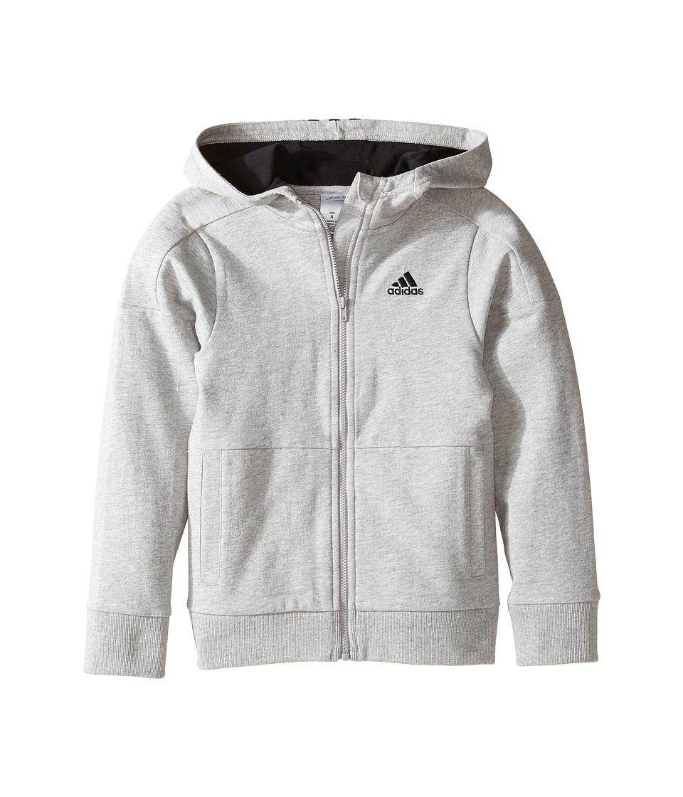 adidas Kids - Athletics Jacket (Toddler/Little Kids) (Grey) Boy's Coat