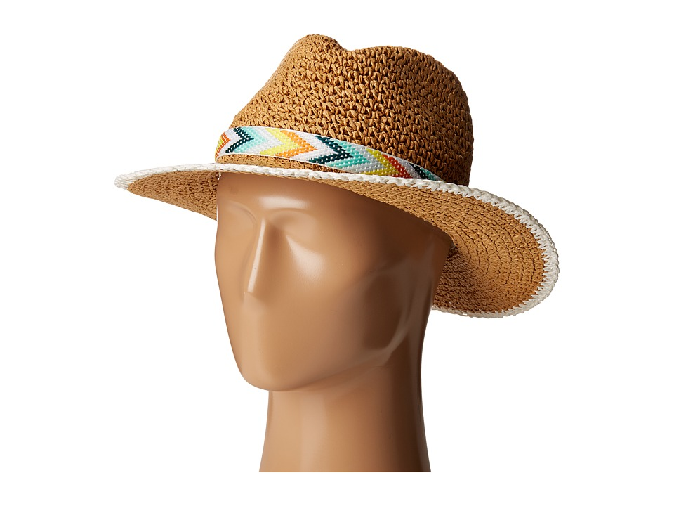 Echo Design - Crochet Panama Beach Hat (White) Caps