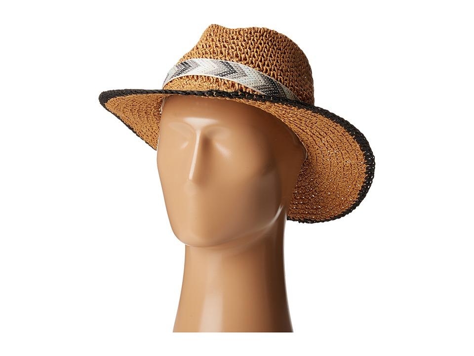 Echo Design - Crochet Panama Beach Hat (Black) Caps