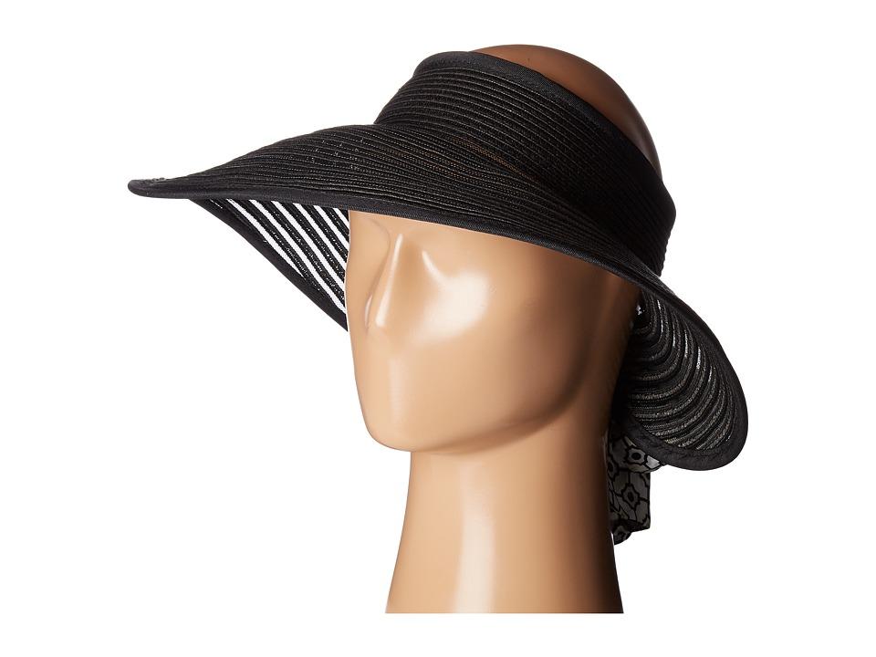 Echo Design - Color Block Visor Sun Hat (Black) Caps