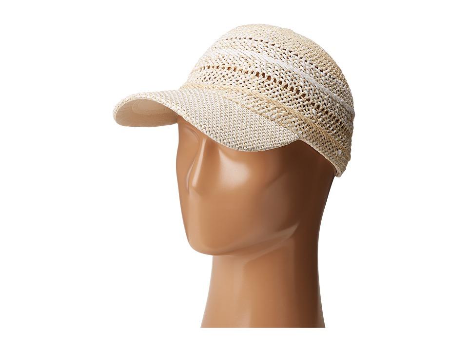 Echo Design - Hand Woven Baseball Cap (White) Baseball Caps