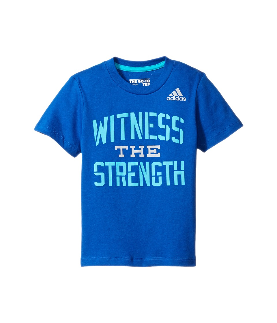 adidas Kids - Witness The Strength Tee (Toddler/Little Kids) (Dark Blue) Boy's T Shirt