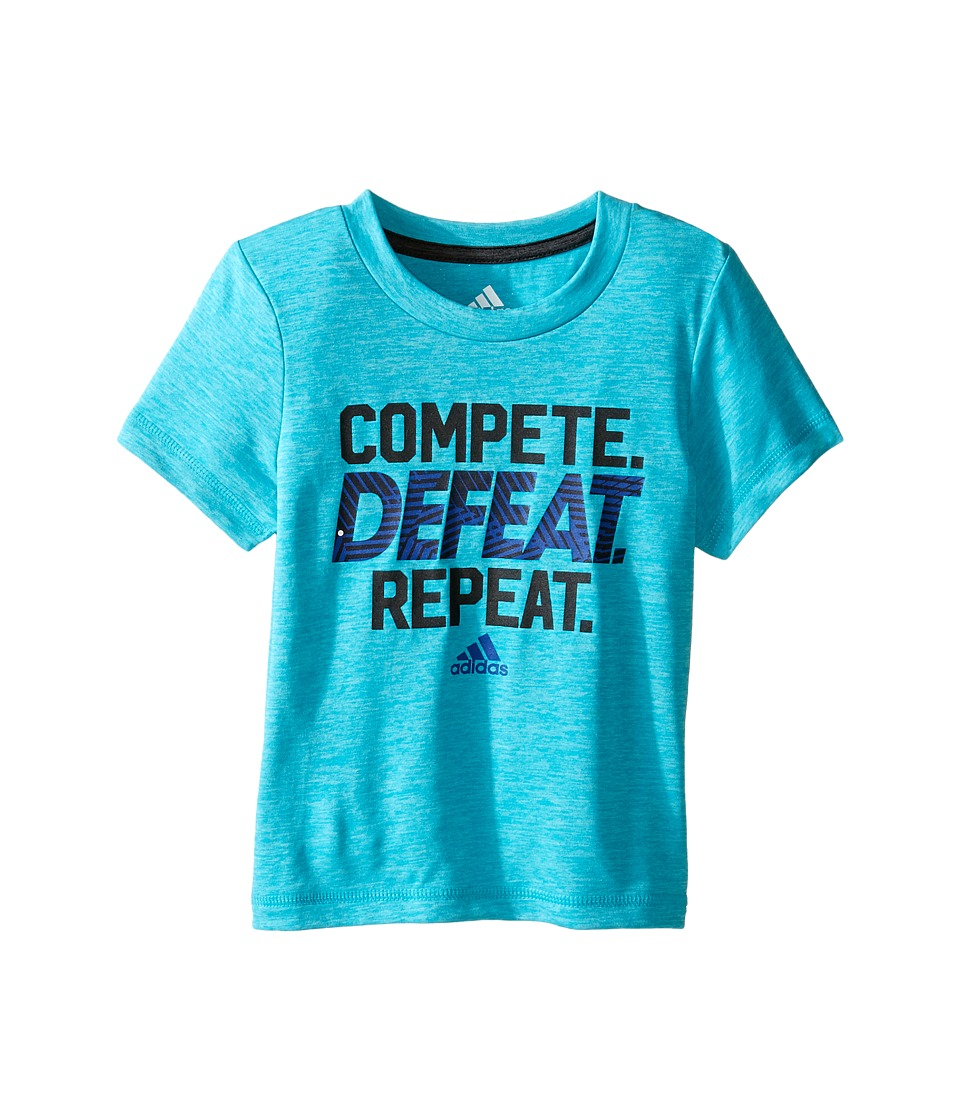 adidas Kids - Compete Tee (Toddler/Little Kids) (Turquoise Heather) Boy's T Shirt