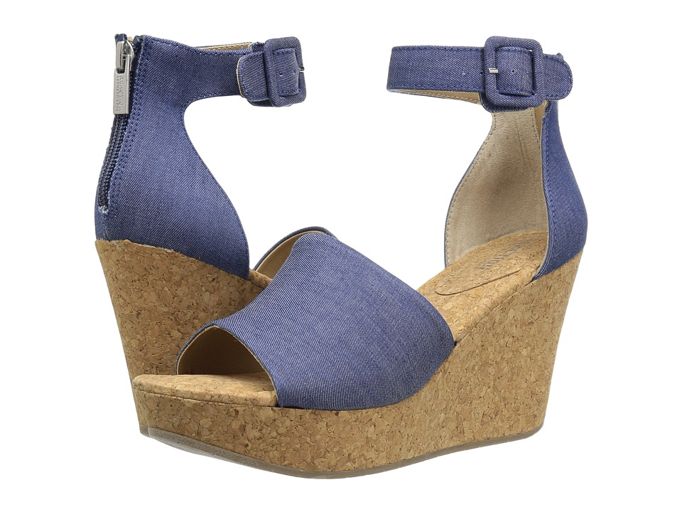Kenneth Cole Reaction - Sole Quest (Blue Denim) Women's Wedge Shoes