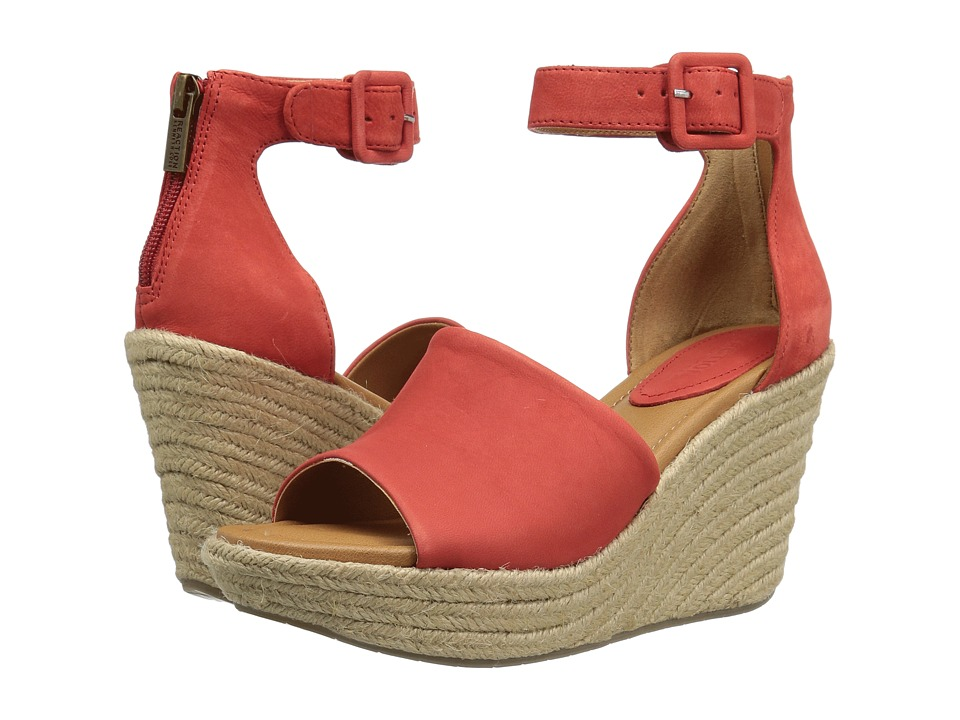 Kenneth Cole Reaction - Sole Quest (Red Nubuck) Women's Wedge Shoes