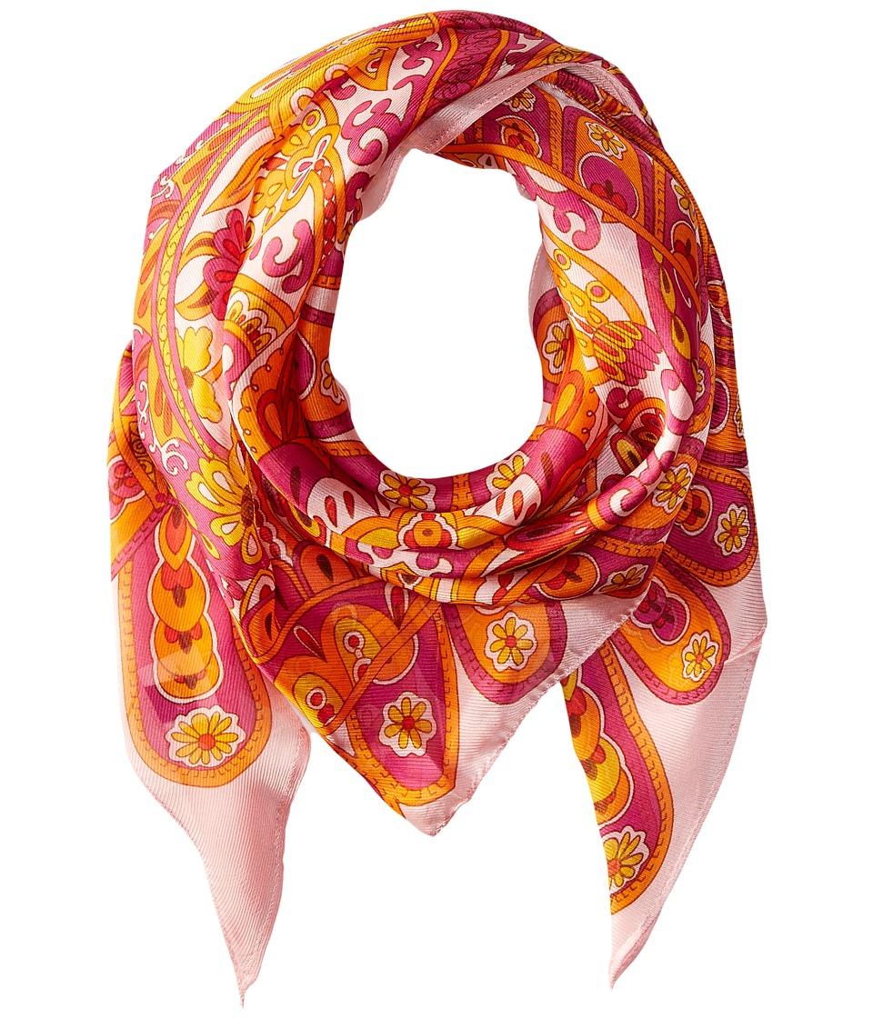 Echo Design - Baracoa Silk Triangle Scarf (Flamingo) Scarves