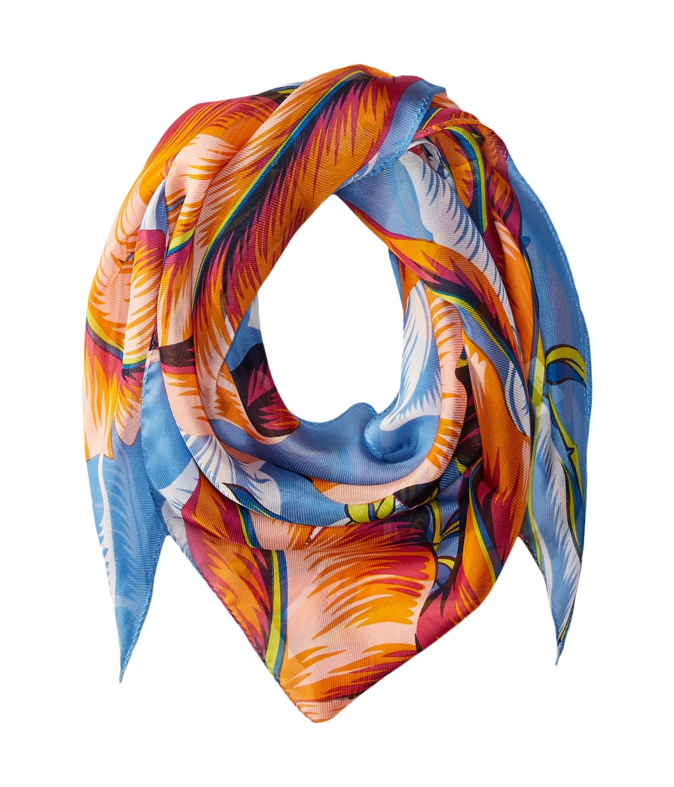 Echo Design - Palm Silk Triangle Scarf (Azure) Scarves