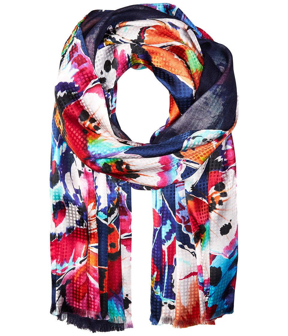 Echo Design - Flutter Bye Double-Faced Wrap Scarf (Navy) Scarves