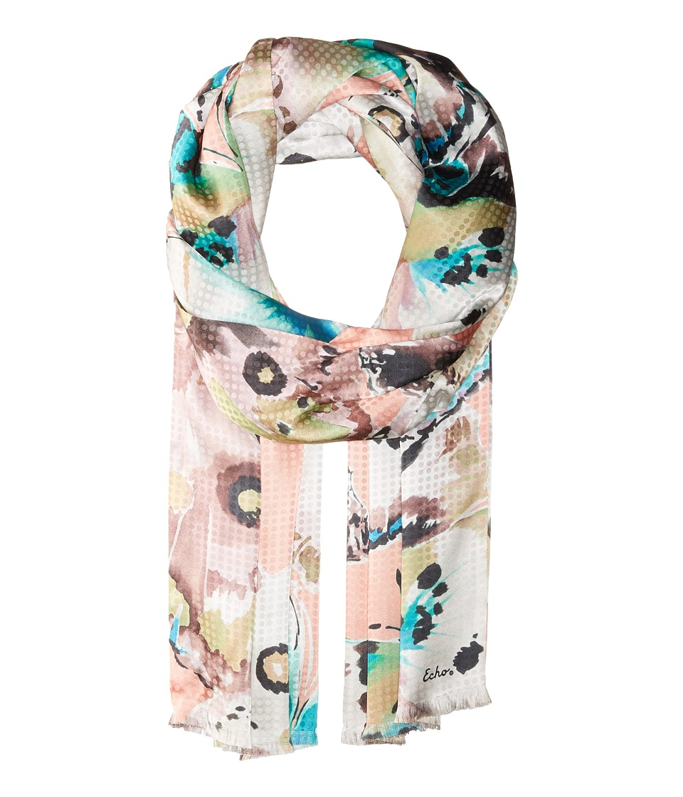 Echo Design - Flutter Bye Double-Faced Wrap Scarf (Pink Sand) Scarves