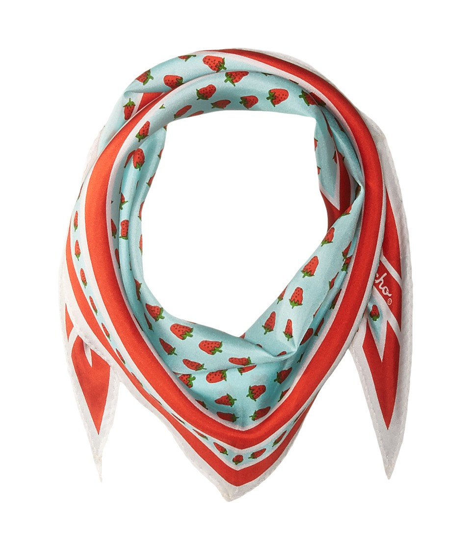 Echo Design - Strawberry Silk Diamond Scarf (Aqua) Scarves