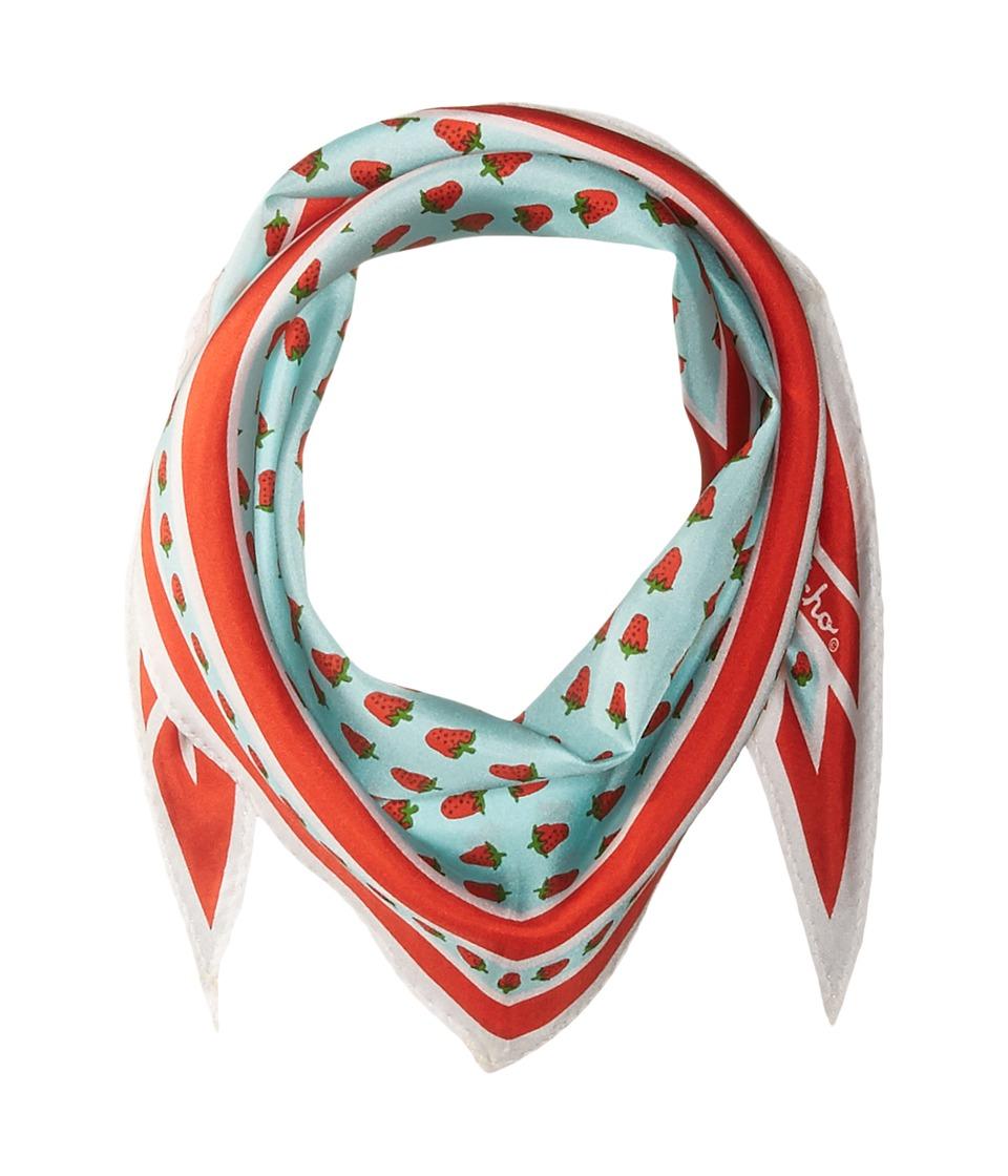 Echo Design - Strawberry Silk Diamond Scarf (Aqua) Scarves