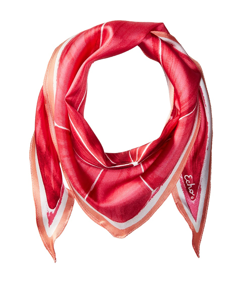 Echo Design - Slice O'Fruit Silk Diamond Scarf (Pink Grapefruit) Scarves