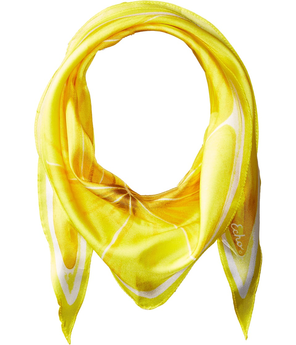 Echo Design - Slice O'Fruit Silk Diamond Scarf (Lemon) Scarves
