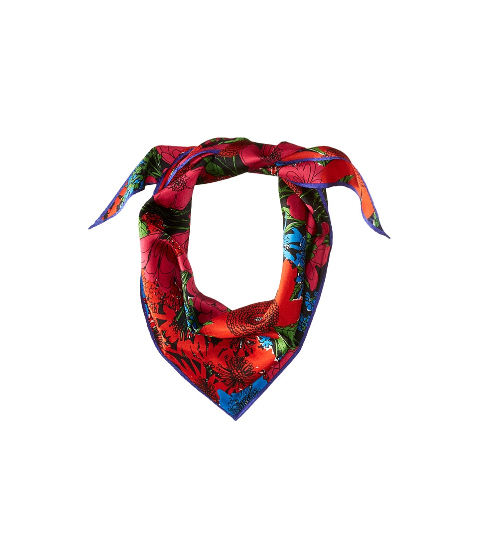 Echo Design - Rue Floral Silk Diamond Scarf (Multi) Scarves