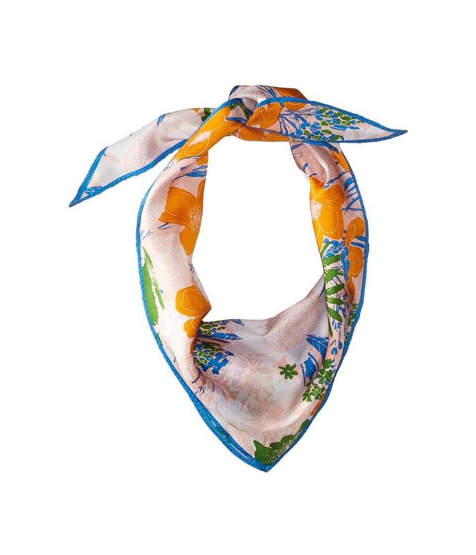 Echo Design - Rue Floral Silk Diamond Scarf (Cambon Coral) Scarves