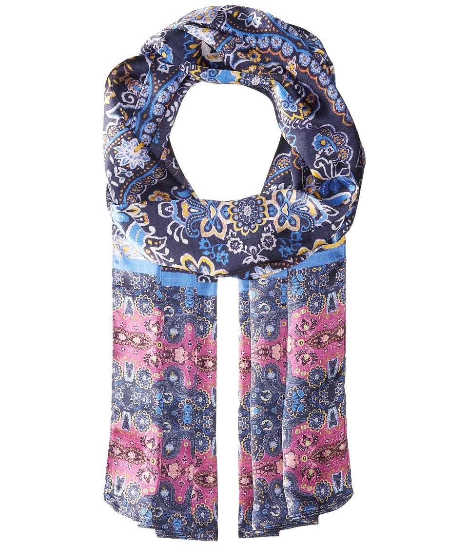 Echo Design - Cubana Paisley Oblong Scarf (Navy) Scarves