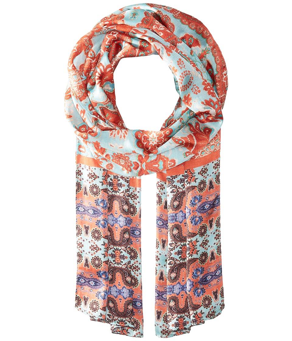 Echo Design - Cubana Paisley Oblong Scarf (Aqua) Scarves