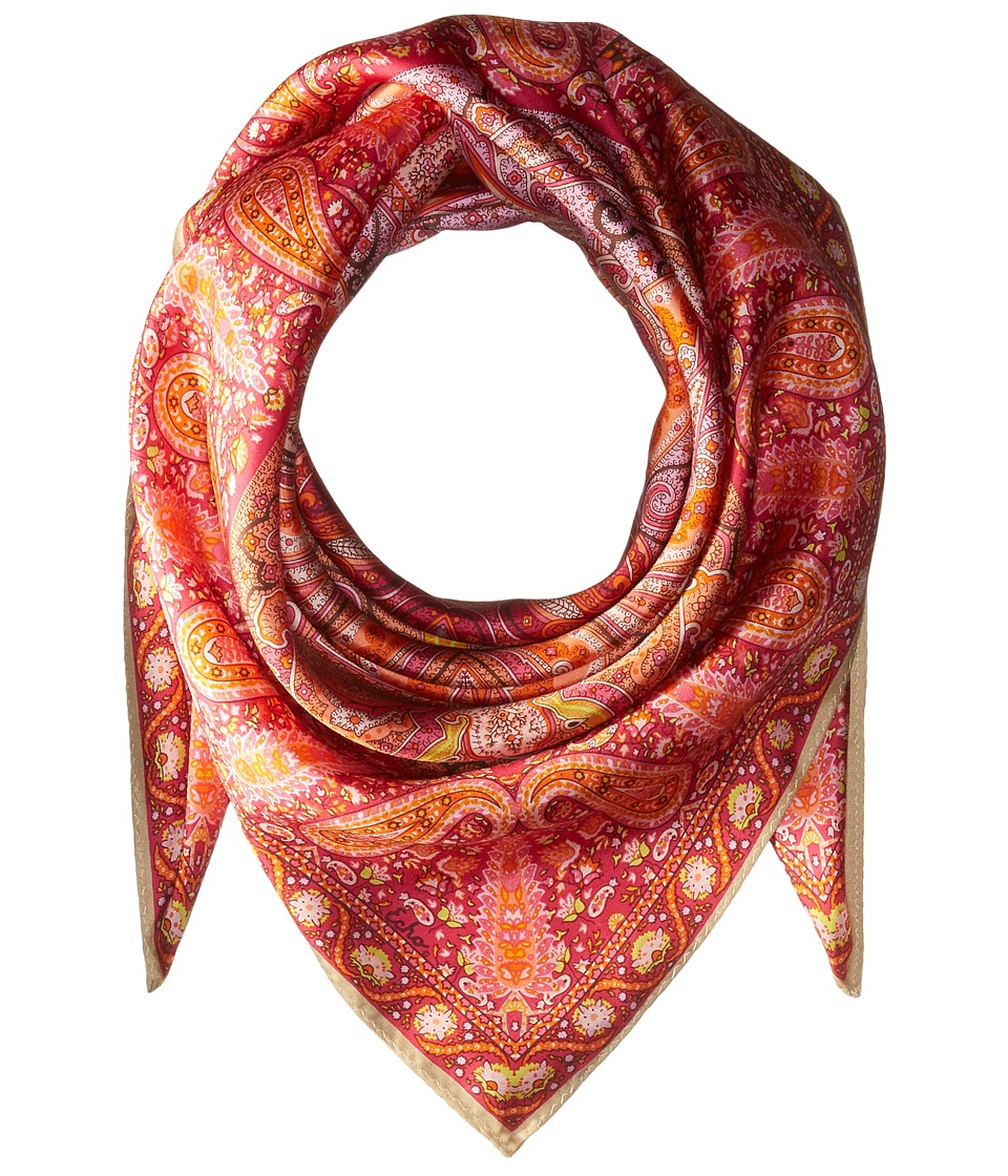 Echo Design - Paisley Silk Square Scarf (Linen) Scarves