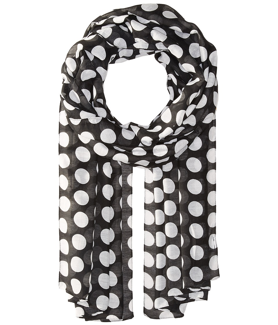 Echo Design - Let's Polka Oblong Scarf (Black) Scarves