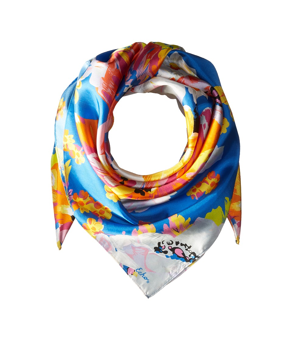 Echo Design - Floral Silk Square Scarf (Multi) Scarves