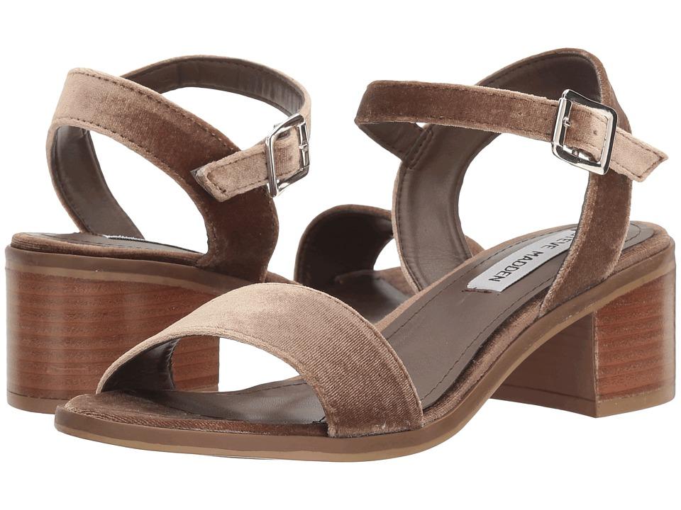 Steve Madden Rondi Taupe Velvet Dress Sandals