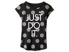 Nike Kids - Polka Dot Just Do It Dri-Fit A-Line Tee (Little Kids)