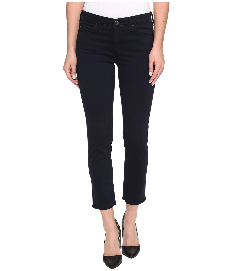 AG Adriano Goldschmied - Prima Crop Mid-Rise Cigarette Leg in New Navy (New Navy) Women's Jeans