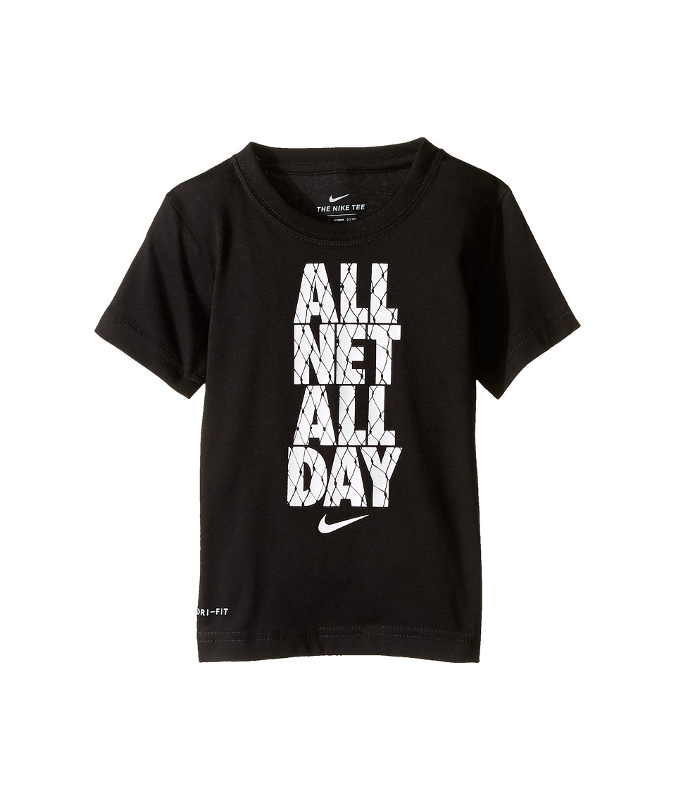 Nike Kids - All Net All Day Tee (Toddler) (Black) Boy's T Shirt