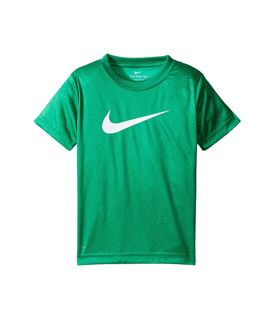 Nike Kids - Faux Heather Dri-FIT Short Sleeve Tee (Little Kids) (Stadium Green Heather) Boy's T Shirt