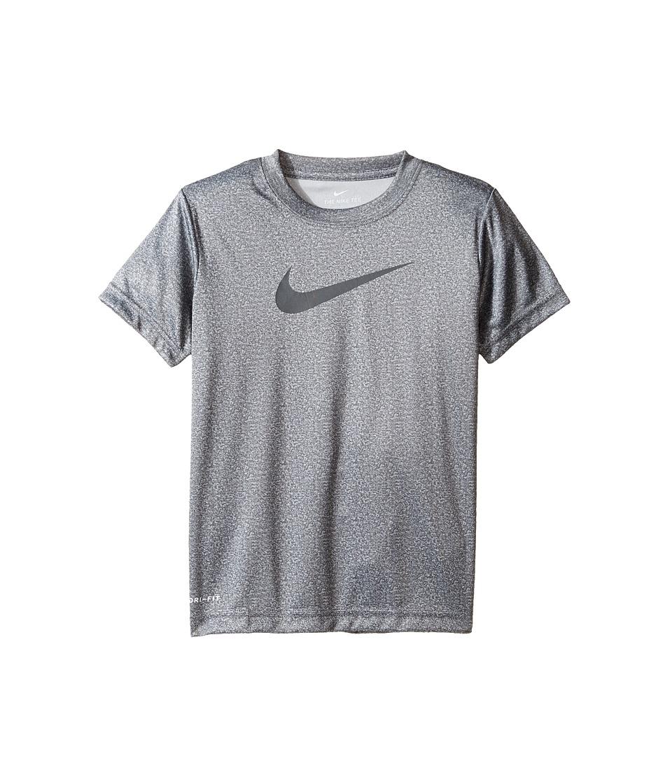 Nike Kids - Faux Heather Dri-FITtm Short Sleeve Tee (Little Kids) (Wolf Gray Heather) Boy's T Shirt
