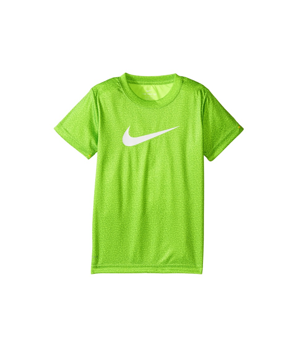 Nike Kids - Faux Heather Dri-FIT Short Sleeve Tee (Little Kids) (Volt Heather) Boy's T Shirt