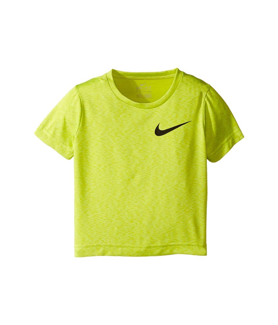 Nike Kids - Dri-FIT Short Sleeve Training Top (Toddler) (Still Blue Heather) Boy's Clothing