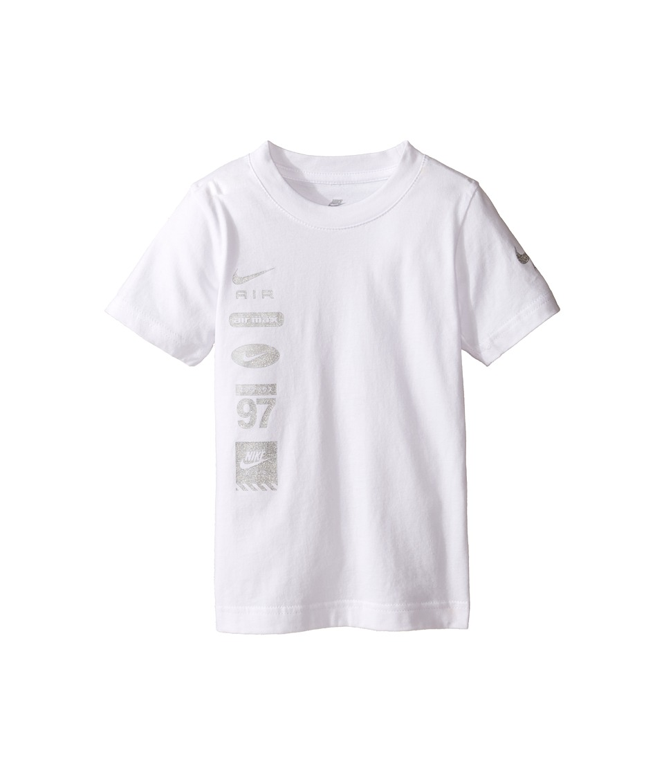 Nike Kids - Spliced Swoosh Tee (Toddler) (White) Boy's T Shirt