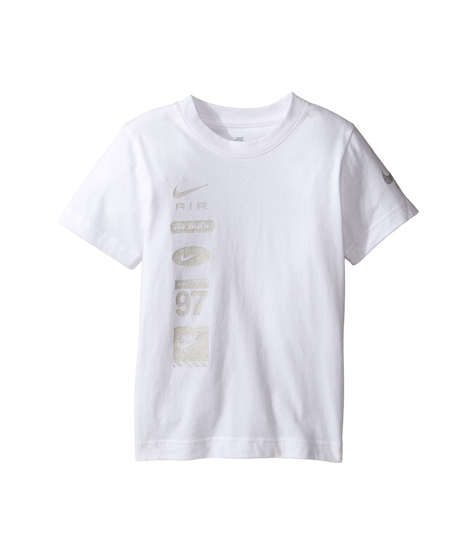 Nike Kids - Spliced Swoosh Tee (Little Kids) (White) Boy's T Shirt