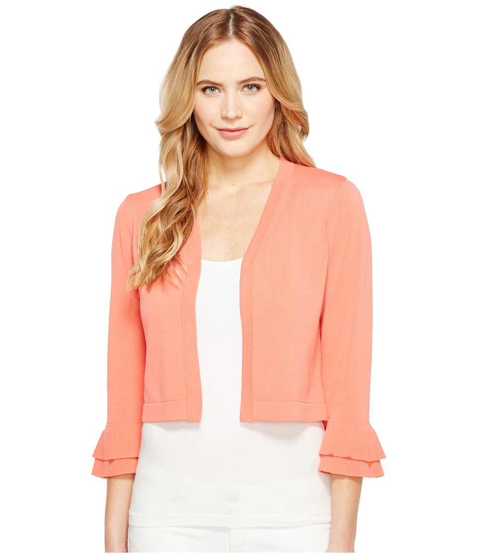 Calvin Klein Open Shrug with Ruffle Sleeve (Porcelain Rose) Women