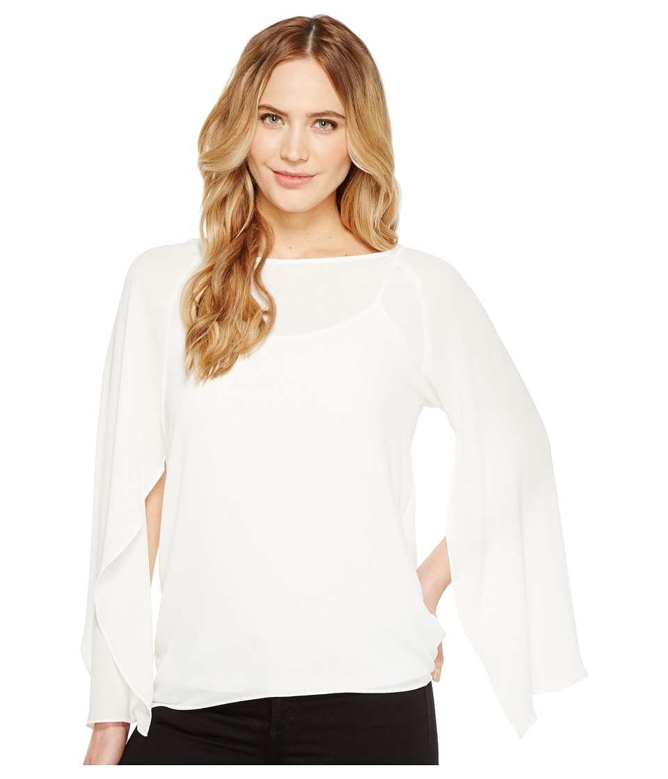 Calvin Klein - Split Sleeve w/ Cami (Soft White) Women's Sweater