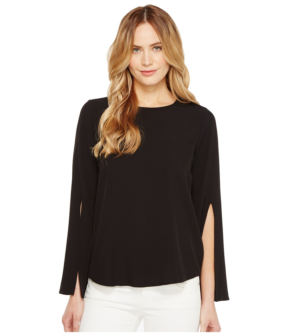 Calvin Klein - Split Bell Sleeve Blouse (Black) Women's Blouse