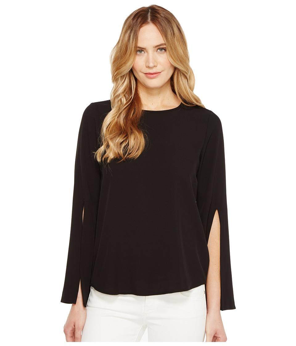 Calvin Klein - Split Bell Sleeve Blouse (Black) Women's Blouse