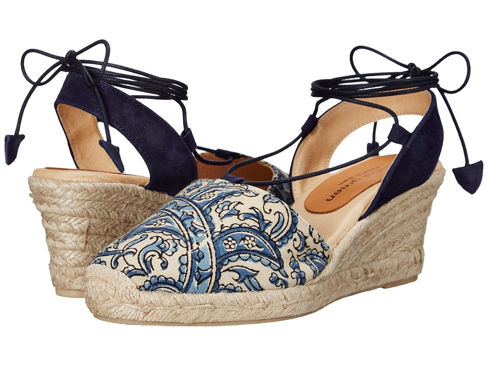 Patricia Green - Patti Paisley (Blue) Women's Shoes