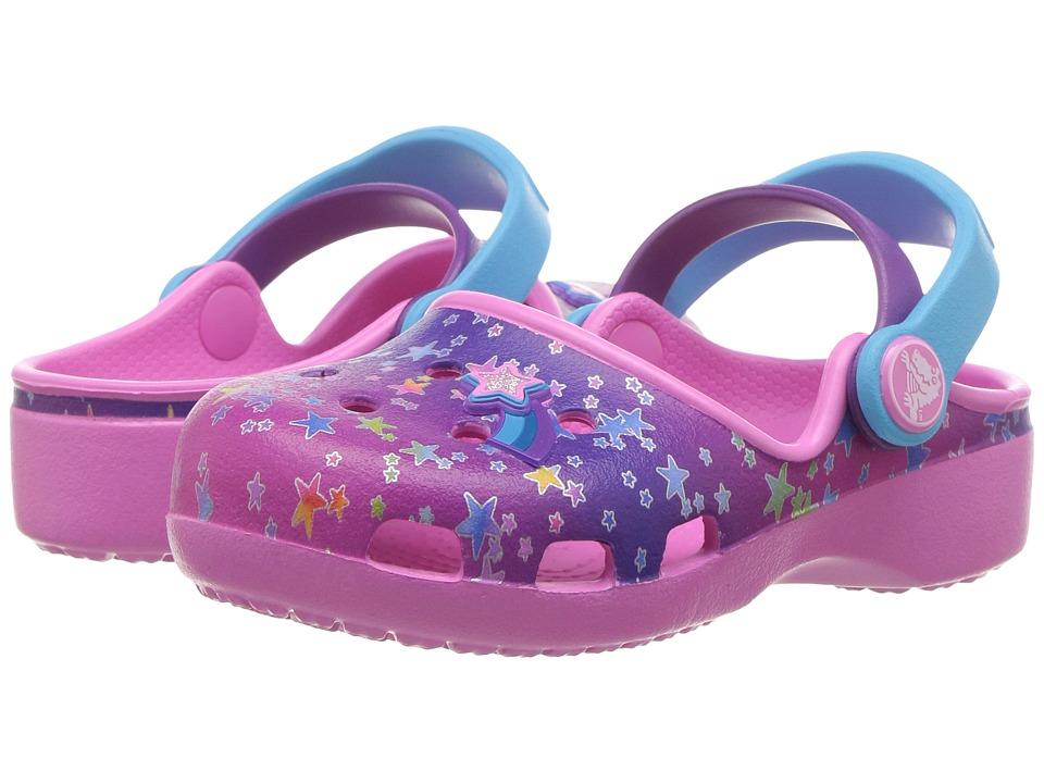 Crocs Kids Karin Novelty Clog (Toddler/Little Kid) (Multi Stars) Girls Shoes