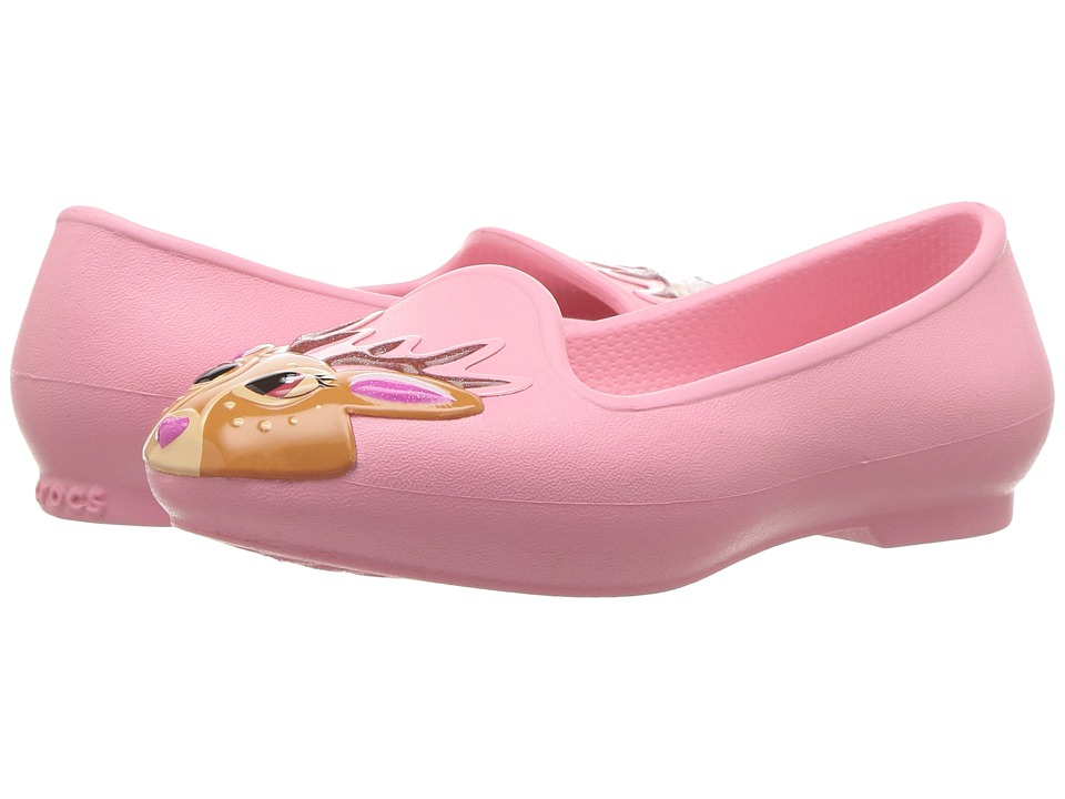 Crocs Kids Eve Novelty Flat (Toddler/Little Kid) (Peony Pink) Girls Shoes
