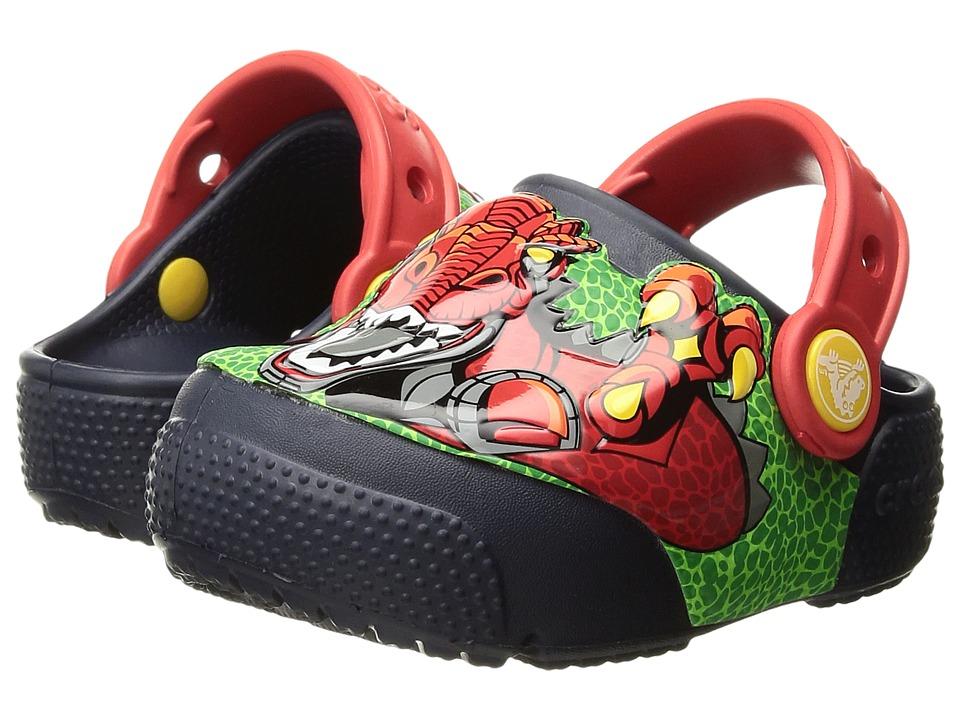 Crocs Kids CrocsLights Clog (Toddler/Little Kid) (Robosaur Rex) Boys Shoes