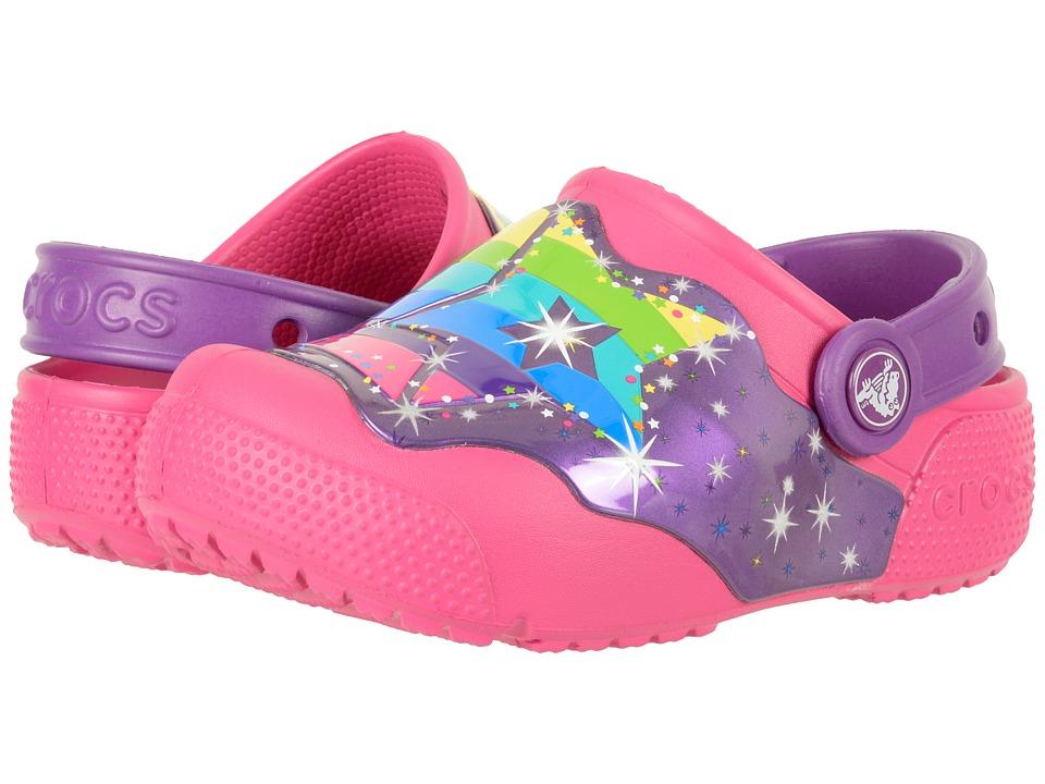 Crocs Kids CrocsLights Clog (Toddler/Little Kid) (Multi Stars) Boys Shoes