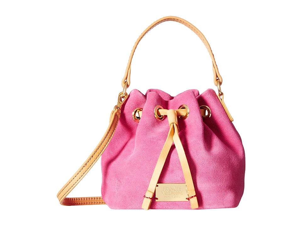 Frances Valentine - Mini Ann Suede Bucket Bag (Pink/Natural) Handbags