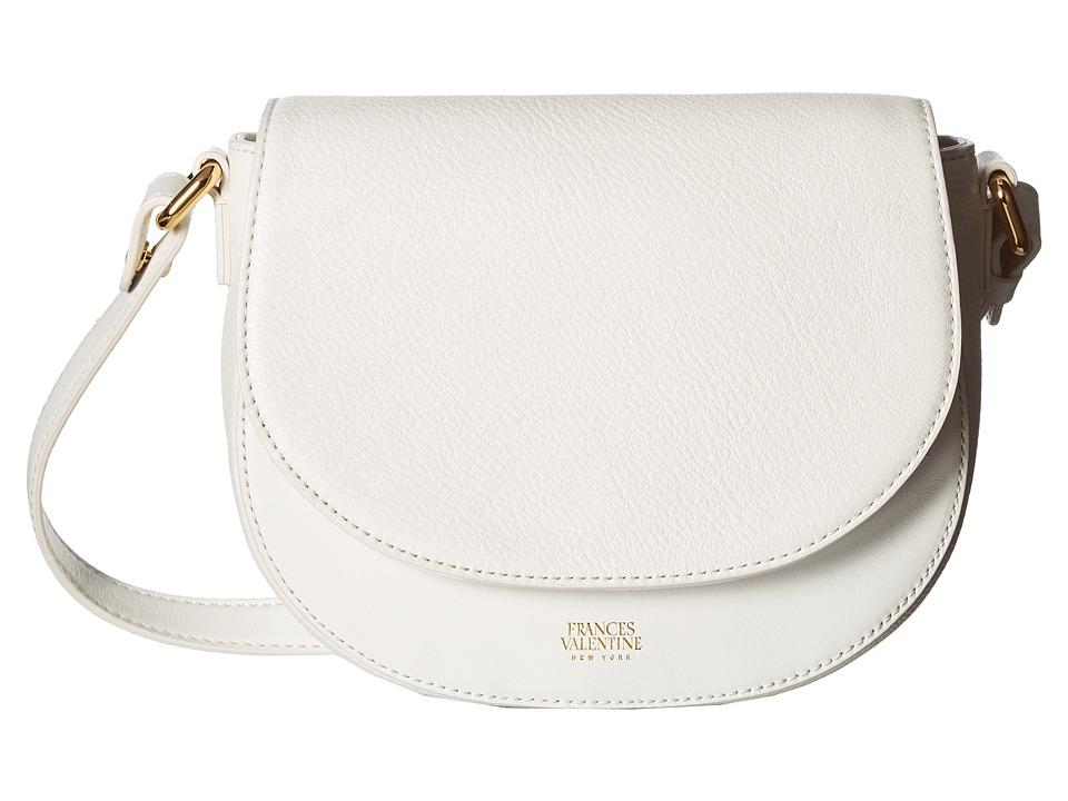 Frances Valentine - Mini Ellen Shoulder Satchel (White) Satchel Handbags